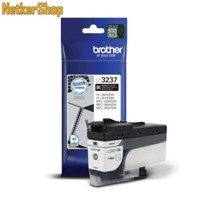 Brother LC3237BK fekete eredeti tintapatron (1 év garancia)