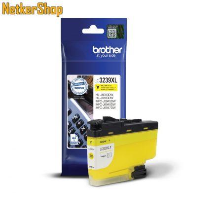Brother LC-3239XLY nagy töltetű sárga eredeti tintapatron (1 év garancia)