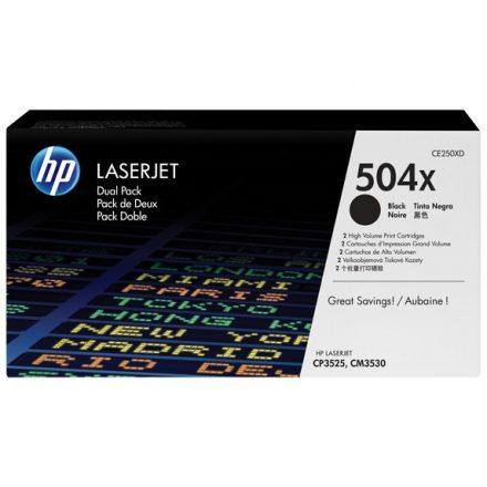 HP CE250XD (504X) fekete duopack eredeti toner (1 év garancia)