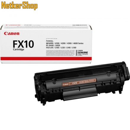 Canon FX-10 (0263B002) fekete eredeti toner (1 év garancia)
