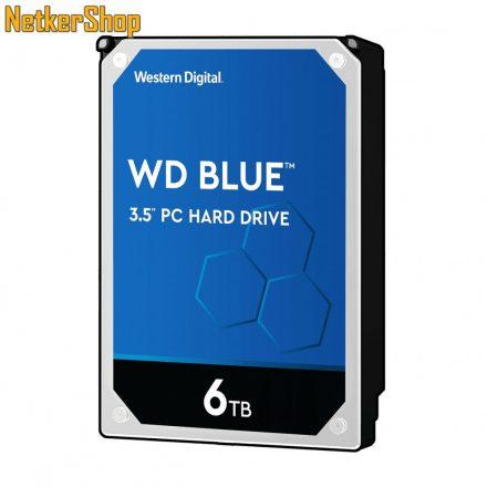 WESTERN DIGITAL WD60EZAZ 6TB 256MB SATA3 5400rpm Blue merevlemez winchester HDD (2 év garancia)