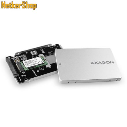 AXAGON RSS-M2SD SATA 3-M.2 SATA belső M.2 SSD mobilrack (2 év garancia)