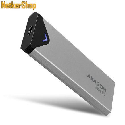 AXAGON EEM2-UG2 USB Type C-3.2 Gen2-M.2 NVMe fém M.2 SSD külső mobilrack (2 év garancia)