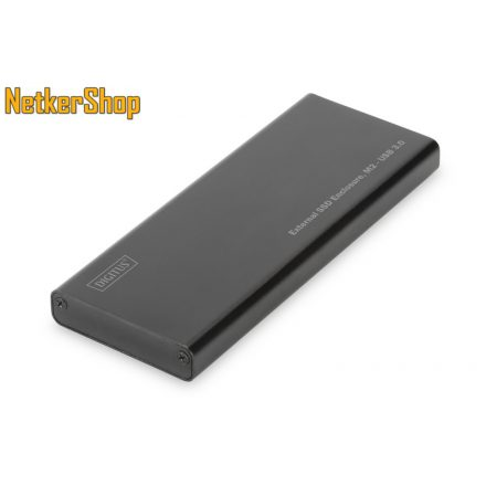 Digitus DA-71111 USB3.0-M.2 SATA aluminium M.2 SSD külső mobilrack (1 év garancia)