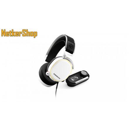 Steelseries Arctis Pro + GameDAC RGB fehér mikrofonos gaming fejhallgató headset (2 év garancia)