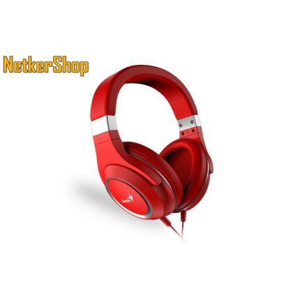 Genius HS-610 (31710010402) piros mikrofonos fejhallgató headset (2 év garancia)