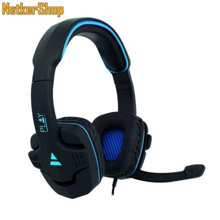 Ewent PL3320 fekete-kék mikrofonos gaming fejhallgató headset (2 év garancia)