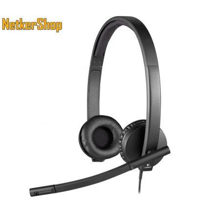 Logitech H570E fekete USB mikrofonos fejhallgató headset (2 év garancia)