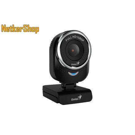 Genius qCam 6000 HD 1080p USB fekete mikrofonos webkamera (2 év garancia)