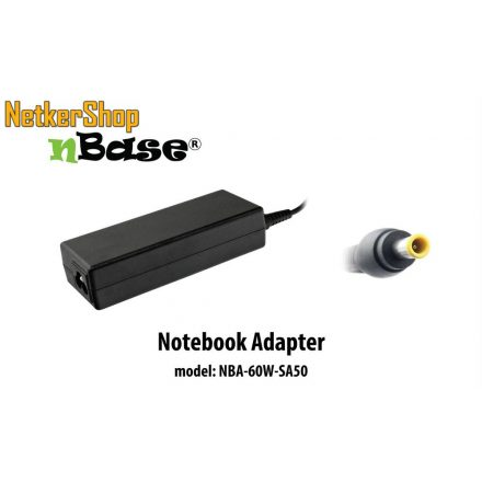 nBase NBA-60W-SA50 60W Samsung notebook hálózati töltő (2 év garancia)