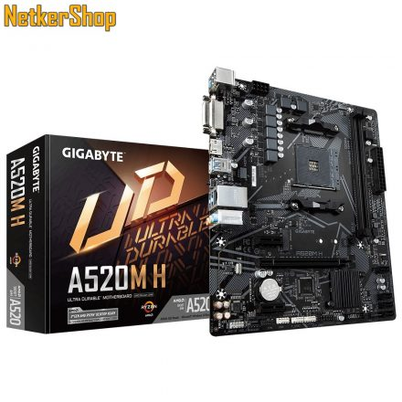 GIGABYTE A520M H AM4 DDR4 alaplap (3 év garancia)