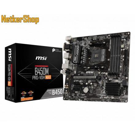 MSI B450M PRO-VDH MAX AM4 DDR4 alaplap (3 év garancia)