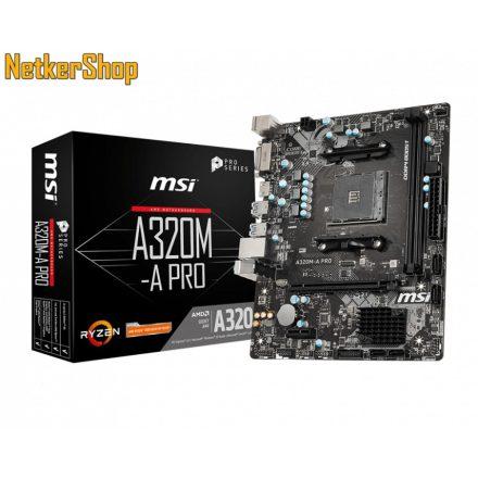 MSI A320M-A PRO AM4 DDR4 alaplap (3 év garancia)