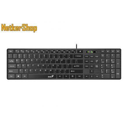 Genius SlimStar 126 (31310017404) USB Black HU billentyűzet (2 év garancia)