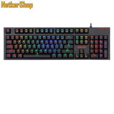 Redragon Amsa-Pro K592RGB-PRO Mechanical Brown Switches Black HU Gaming billentyűzet (2 év garancia)