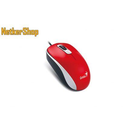 Genius DX-120 (31010105109) Red egér (2 év garancia)