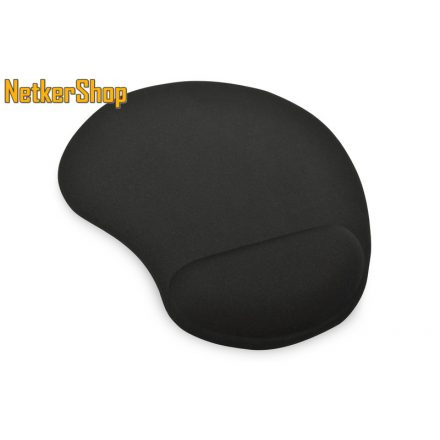 Ednet (64020) fekete zselés csuklótámaszos egérpad (1 év garancia)