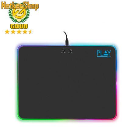 Ewent PL3341 RGB fekete gaming egérpad (2 év garancia)