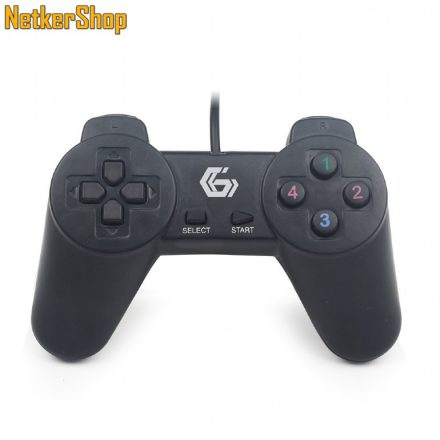Gembird JPD-UB-01 fekete PC gamepad (1 év garancia)