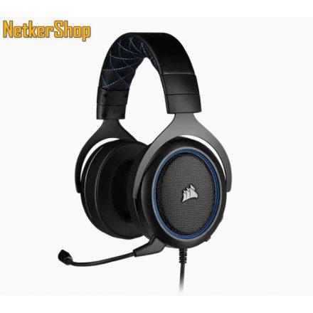 Corsair HS50 PRO Stereo (CA-9011217-EU) Black/Blue mikrofonos gaming fejhallgató headset (2 év garancia)