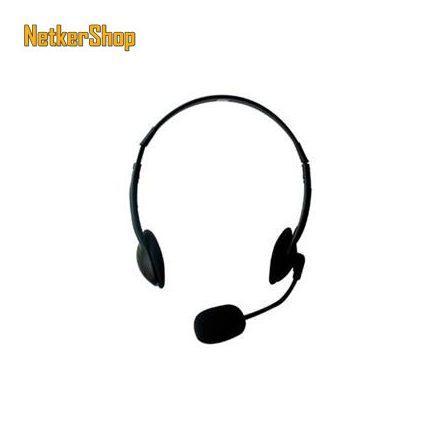 Ewent EW3563 fekete mikrofonos fejhallgató headset (2 év garancia)