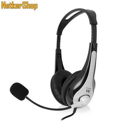 Ewent EW3562 mikrofonos fejhallgató headset (2 év garancia)