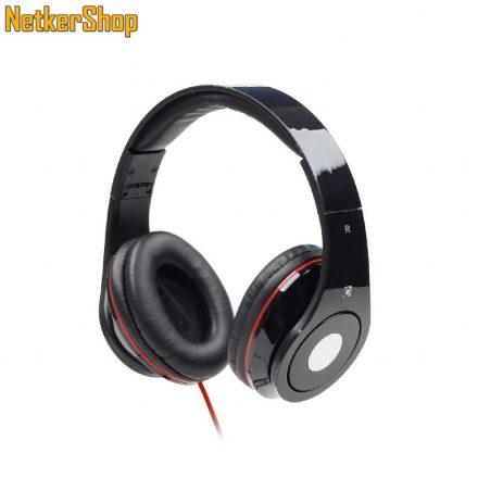 Gembird MHS-DTW-BK Detroit fekete mikrofonos fejhallgató headset (1 év garancia)