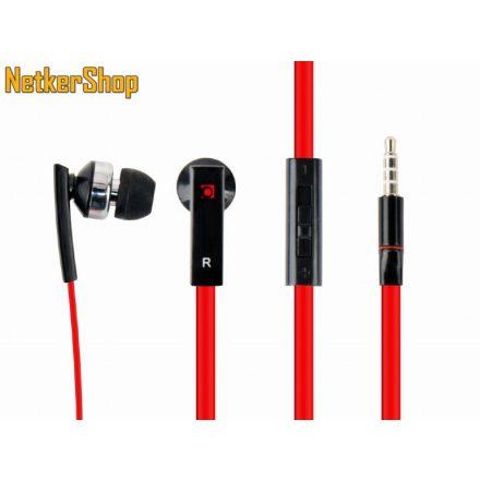 Gembird MHS-EP-OPO Porto Black/Red mikrofonos fülhallgató headset (1 év garancia)