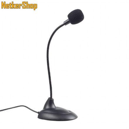Gembird MIC-205 fekete asztali mikrofon (1 év garancia)