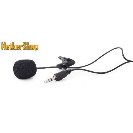 Gembird MIC-C-01 fekete csíptethető mikrofon (1 év garancia)