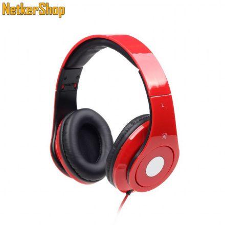 Gembird MHS-DTW-R Detroit piros mikrofonos fejhallgató headset (1 év garancia)