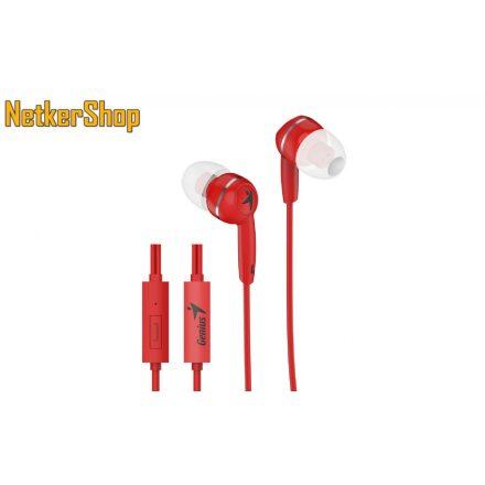 Genius HS-M320 (31710005415) piros mikrofonos fülhallgató headset (2 év garancia)