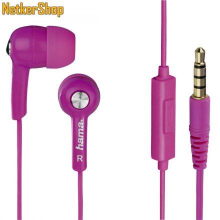 Hama HK-2114 (122692) pink mikrofonos fülhallgató headset (1 év garancia)