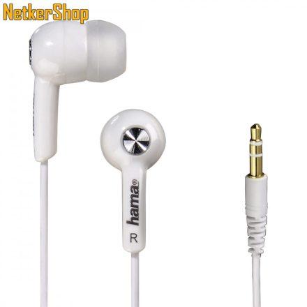 Hama HK-2103 (122724) fehér fülhallgató (1 év garancia)