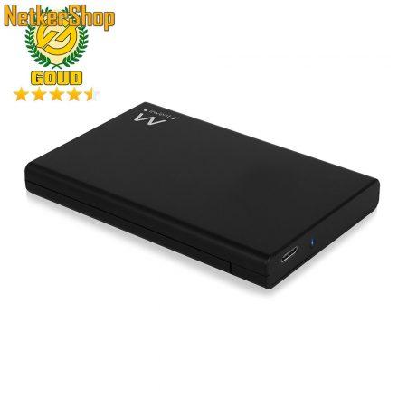 """Ewent EW7072 SATA3 - USB-C 3.2 gen2 fekete csavarmentes 2.5"""" külső ház mobilrack (5 év garancia)"""