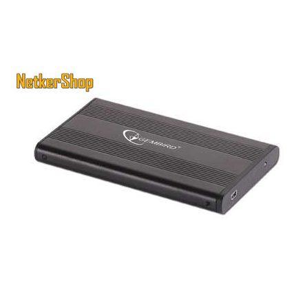 "Gembird EE2-U2S-5 SATA-USB2.0 fekete 2.5"" SSD/HDD külső ház mobilrack (1 év garancia)"