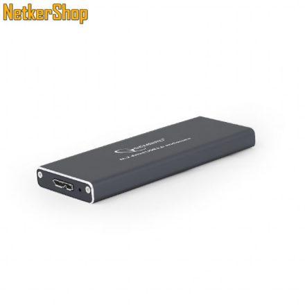 Gembird EE2280-U3C-01 USB3.0 fekete M.2 aluminium külső ház mobilrack (2 év garancia)
