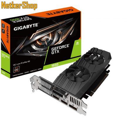 GIGABYTE Nvidia Geforce GTX1650 4G GV-N1656OC-4GL 4GB videókártya (3 év garancia)