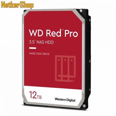 Western Digital Red Pro WD121KFBX 12TB 7200rpm SATA3 256MB NAS merevlemez winchester HDD (5 év garancia)