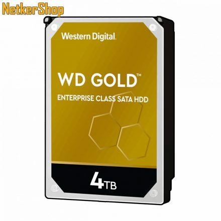 Western Digital Gold WD4003FRYZ 4TB 7200rpm SATA3 256MB merevlemez winchester HDD (5 év garancia)