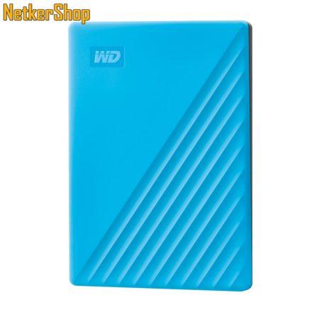 """Western Digital My Passport (WDBPKJ0040BBL-WESN) 4TB USB3.2 kék 2.5"""" külső merevlemez winchester HDD (3 év garancia)"""