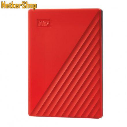 "Western Digital My Passport (WDBPKJ0040BRD-WESN) 4TB USB3.2 piros 2.5"" külső merevlemez winchester HDD (3 év garancia)"