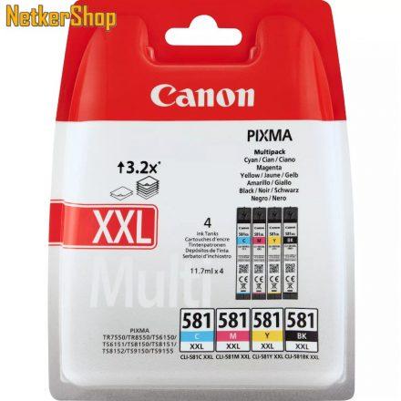 Canon CLI-581XXL Multipack C,M,Y,BK (1998C005) eredeti tintapatron (1 év garancia)